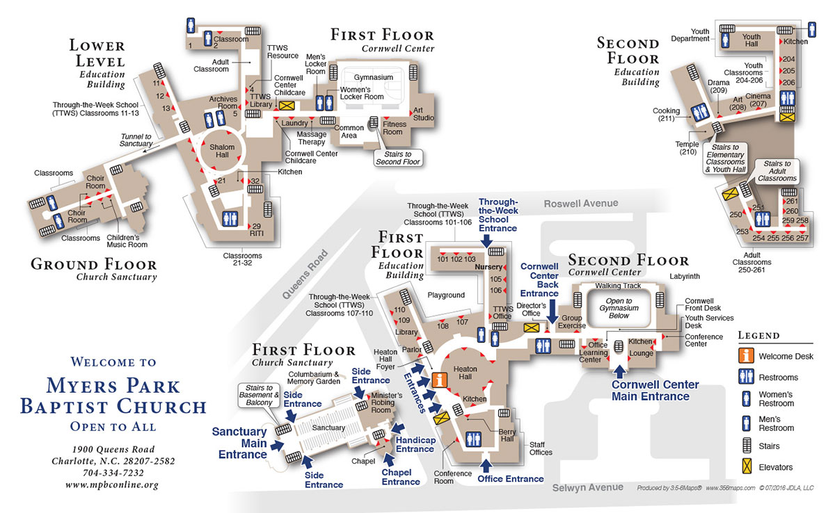 MPBC Church Campus Map